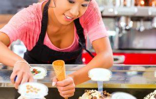 ice cream shop machines